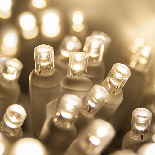100 Ct White Led Wide Angle String Lights in US - 2