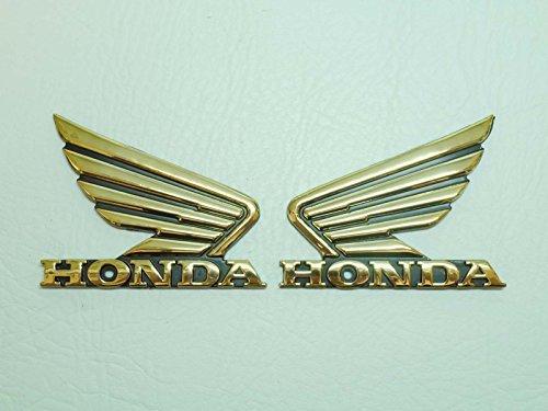 90x70mm Gold Wings Motorbike Badge Emblem Motorcycle Fuel Petrol Tank Decal Stickers custom