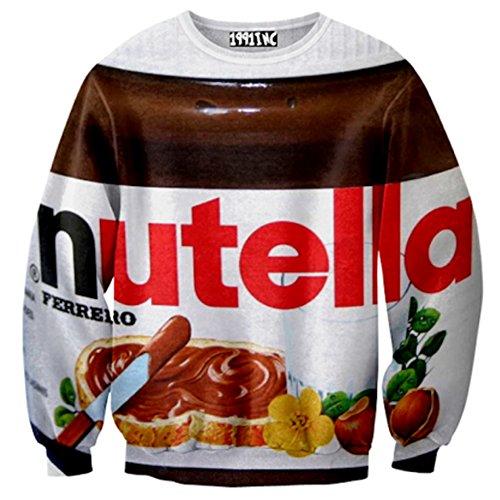 Sweaters 3D Print Animal Painting Nutella Long Sleeve Pullover Sweatshirts -