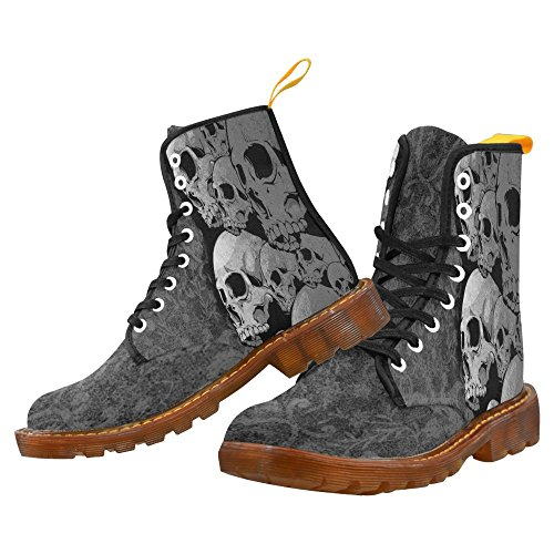 Cool Skull Lace Up Martin Boots For Men