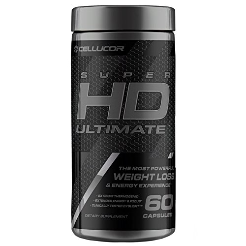 (Cellucor SuperHD Ultimate Thermogenic Fat Burner & Weight Loss Supplement with Caffeine and Natural Metabolism Boosters, 60 Capsules )