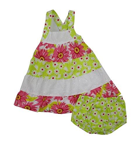 Penelope Mack Baby Girls Size 18 Months Dress & Bloomers, Pink Rose