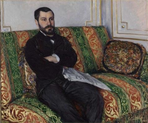 Price comparison product image Oil Painting 'Gustave Caillebotte, Portrait Of Richard Gallo, 1881' 30 x 36 inch / 76 x 91 cm ,  on High Definition HD canvas prints is for Gifts And Bar