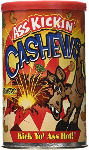 Ass Kickin Cashews - Flavor: Habanero - Net Wt: 6oz.