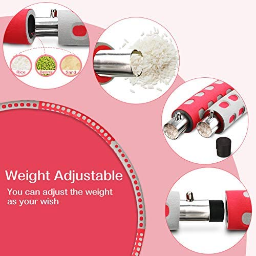 gracosy Weight Loss Workout with 8 Sections Detachable Weight Adjustable Soft Workout for Jump Rope Weighted Sport Equipment 5