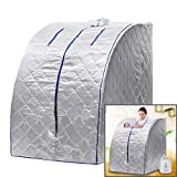 Creine Portable Safe Steam Sauna Spa Tent with Digital Display, Therapeutic Health Care for Detox Weight Loss Indoor (US Stock)