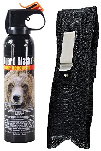 Guard Alaska 9 oz. Bear Spray Repellent & Pepper Enforcement Metal Belt Clip Holster
