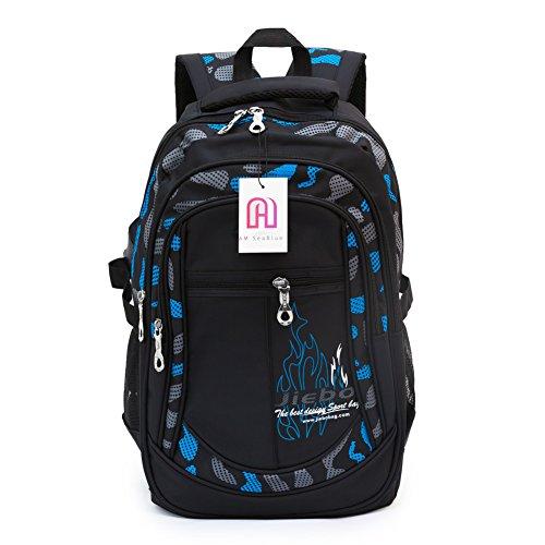 Student School Backpacks for Boys Bookbag for Kids Student Backpack (Blue)