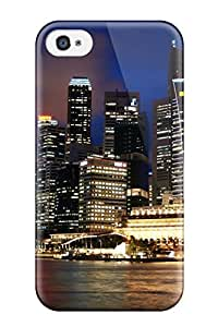 CaseyKBrown Snap On Hard Case Cover Singapore Skyline Protector For Iphone 4/4s