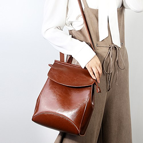 cuir fashion en main femme LF Sac Valin Sac portés Marron à 8963 dos wApnX0