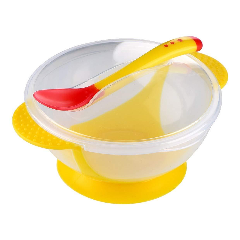 Container port Mittagessen and Gelee in Kunststoff mit Tür Löffel set in cap gelb