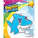Shark Suncatcher Kit with Baking Crystals Metal Frame & Suction Cup Hook