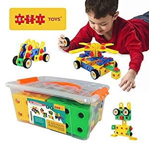 ETI Toys - Educational Construction Engineering Blocks for Boys and Girls - 90 Piece Set for Building Endless Combinations! Great for Learning & Having Fun - Build Your Imagination Today! - 51x6 DSrEKL - ETI Toys   STEM Learning   Original 101 Piece Educational Construction Engineering Building Blocks Set for 3, 4 and 5+ Year Old Boys & Girls   Creative Fun Kit   Best Toy Gift for Kids Ages 3yr – 6yr
