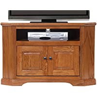 American Heartland Oak Corner TV Stand in Light