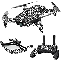 MightySkins Skin for DJI Mavic Air Drone - Black Damask | Max Combo Protective, Durable, and Unique Vinyl Decal wrap cover | Easy To Apply, Remove, and Change Styles | Made in the USA
