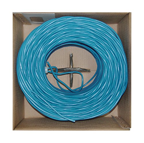 Offex Bulk Shielded Cat6 Blue Ethernet Cable, Solid, Spool, 1000' (OF-10X8-561NH) by Offex (Image #1)