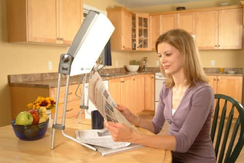 amazon com carex day light classic bright light therapy lampdouble tap to zoom