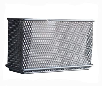 design ideas mesh magnet storage container extra large silver - Metal Storage Containers