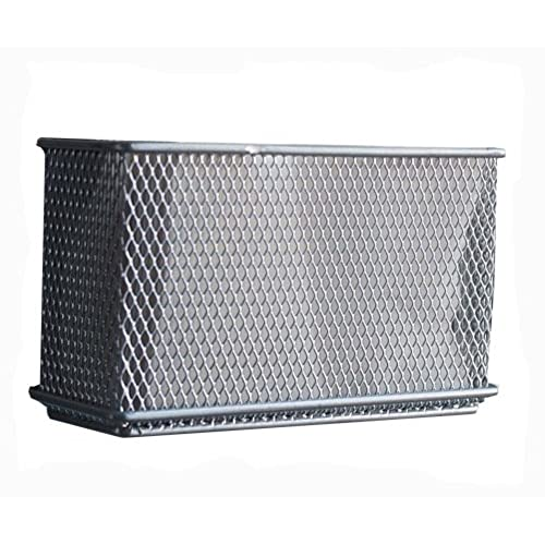 Design Ideas 351339 Mesh Magnet Storage Container, Extra Large, Silver
