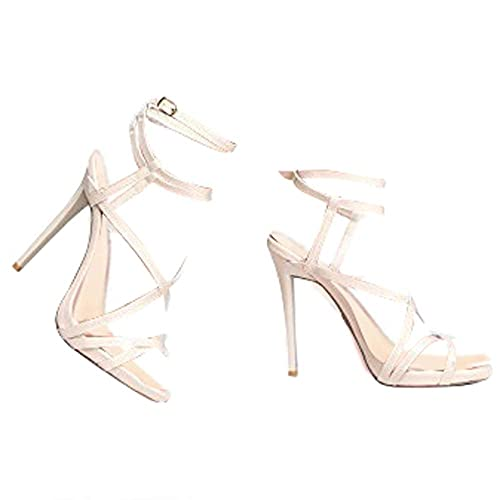 bb0cb426a77 ZooShoo Womens Ankle Strap High Heel Sandals - Dress, Wedding, Party Heeled  Shiny Pumps - Elegant, Comfortable & Strappy