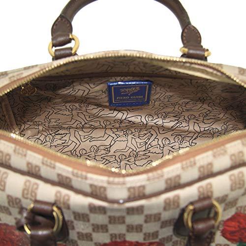 guidi mano a borsa donna piero 6167D3086 PG bauletto Carnation Monogramma stampa 56 Red con fdq1nnx
