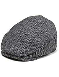 Kids Wool Tweed Flat Cap Herringbone Boy Girl Newsboy...