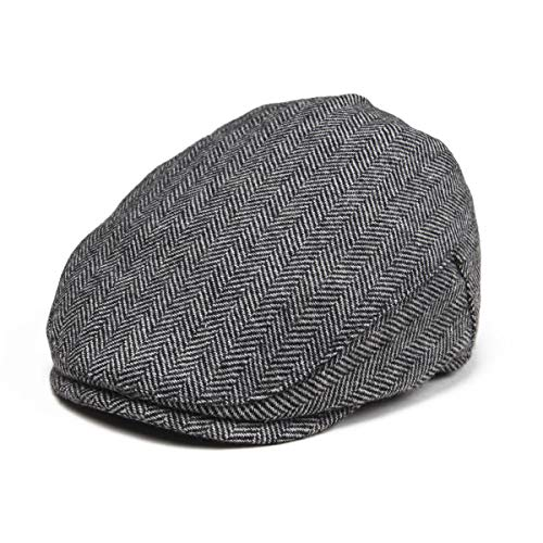 (JANGOUL Kids Wool Tweed Flat Cap Herringbone Boy Girl Newsboy Caps Infant Toddler Child Youth Beret Hat Ivy Gatsby Cap)