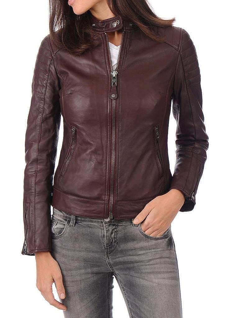 Women's Stylish Lambskin Genuine Leather Jacket WJ11
