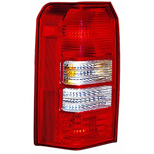DRIVER SIDE TAIL LIGHT Jeep Patriot LENS AND HOUSING; WITH 2 HOLES IN BACK Headlights Depot