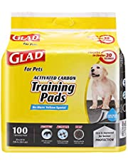 Glad Pets Activated Carbon Puppy Training Pads | Charcoal Puppy Pads for Dogs | Super Absorbent and Leak Proof Puppy Pee Pads | Black