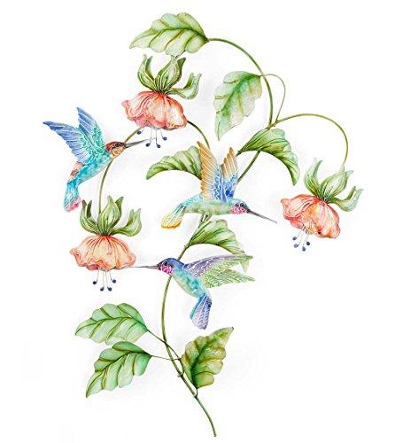 (Metal Hummingbird Wall Art 14.25''W x 19''H x)