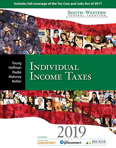 South-Western Federal Taxation 2019: Individual Income Taxes (Intuit ProConnect Tax Online 2017 & RIA Checkpoint 1 term (6 months) Printed Access Card)