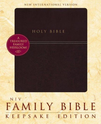 NIV Family Bible, Keepsake Edition by Zondervan (2012) Leather Bound