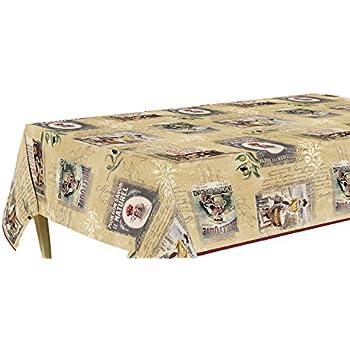 Amazon Com Vintage Rooster Flannel Back Vinyl Tablecloth