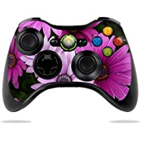 MightySkins Skin Compatible with Microsoft Xbox 360 Controller - Purple Flowers | Protective, Durable, and Unique Vinyl Decal wrap Cover | Easy to Apply, Remove, and Change Styles | Made in The USA