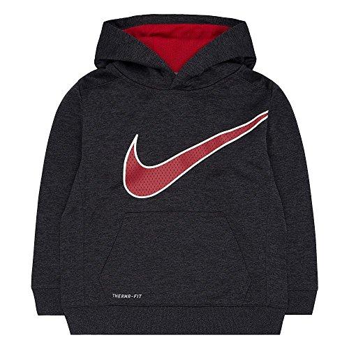 Boys 4-7 Nike KO 3.0 Therma-FIT Fleece Hoodie, Black Heather, 6