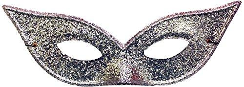 Morris Costumes Women's Harlequin Mask Lame Silver - Lame Harlequin Mask