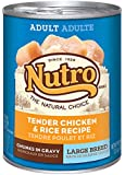 NUTRO Large Breed Adult Chicken and Rice Canned Dog Food, 12.5 oz. (Pack of 12)