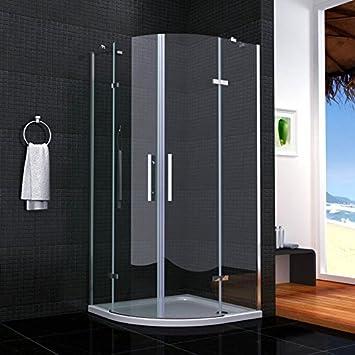 Cabina de ducha semicircular mamparas de baño 6mm cristal templado 90x90cm: Amazon.es: Bricolaje y herramientas