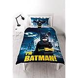 Lego Batman Movie 'Hero' Reversible Panel Single Bed Duvet Quilt Cover Set