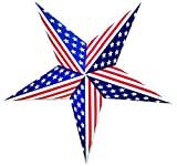 USA Flag Paper Star Lantern - Special Handmade Party Decoration