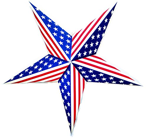 UMTA USA Flag Paper Star Lantern - Special Handmade Party Decoration