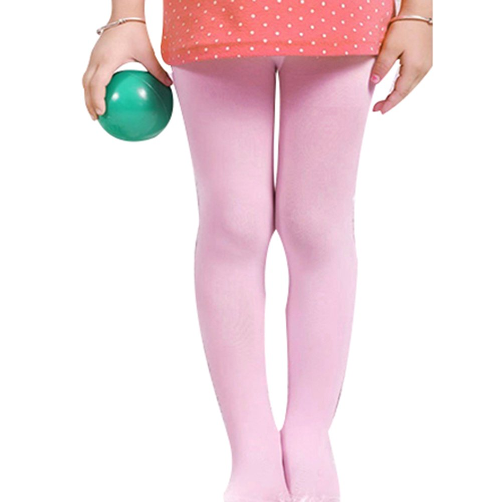 Trenton Toddler Girl Solid Color Ballet Stretch Opaque Pantyhose Footed Tights