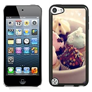 NEW Unique Custom Designed iPod Touch 5 Phone Case With Mint Chocolate Cupcake Desert_Black Phone Case