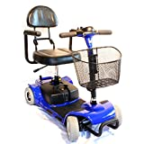 """Zip'r Mobility - Zip'r Roo - Travel Scooter - 4-Wheel - 16.5""""W x 14.5""""D - Blue"""