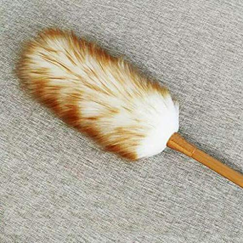 ZHANGY Ostrich Feather Makeup/Role Playing Accessories/Props Dust Scorpion Wooden Handle Cleaning The Donkey by ZHANGY (Image #1)