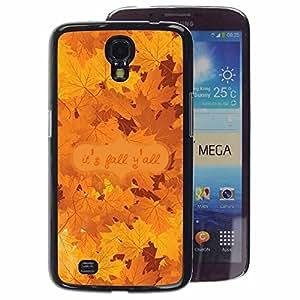 A-type Arte & diseño plástico duro Fundas Cover Cubre Hard Case Cover para Samsung Galaxy Mega 6.3 (Autumn Leaves Tree Golden Brown Maple)