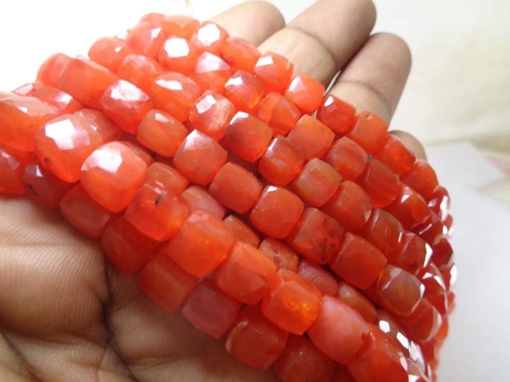 8 mm dados auténticas perlas de cornalina, 8 pulgadas de longitud cuerda, joyas hacer perlas mayorista