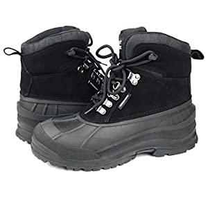 MEADA Labo Winter Duck Snow Boot Waterproof Insulated Lace Up Cold Weather Boot