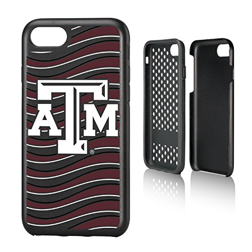 Aggies Atm - Keyscaper NCAA Texas A&M Aggies ATM Wave Rugged Case, iPhone 8/7, Black